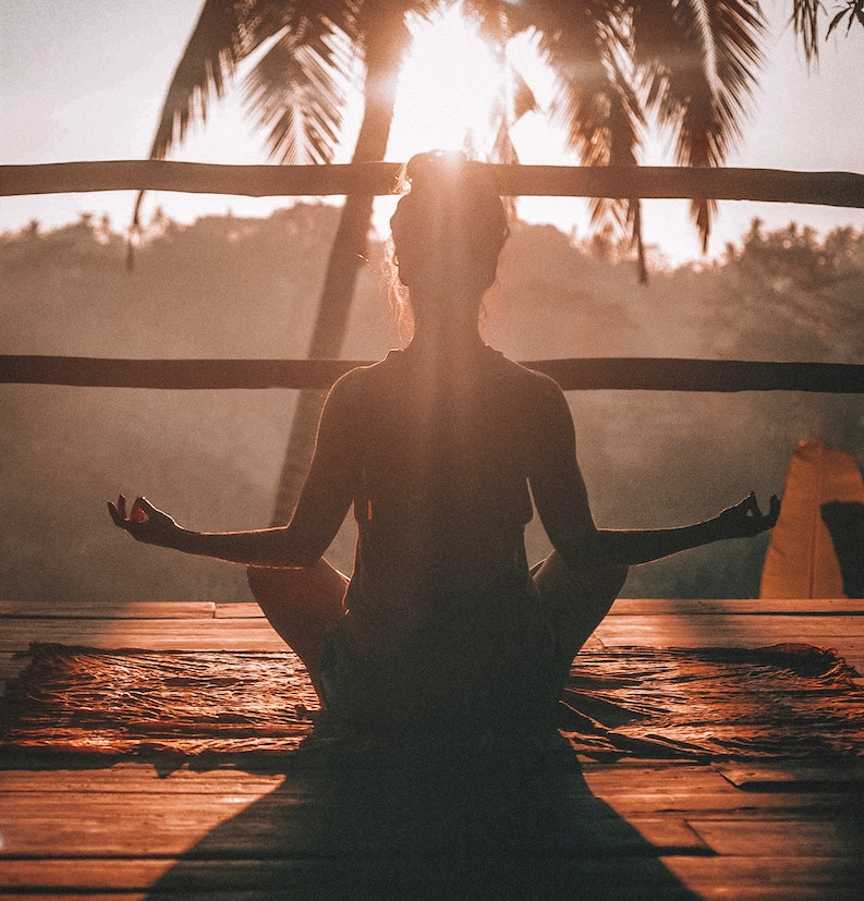 An ENFP doing yoga in Bali