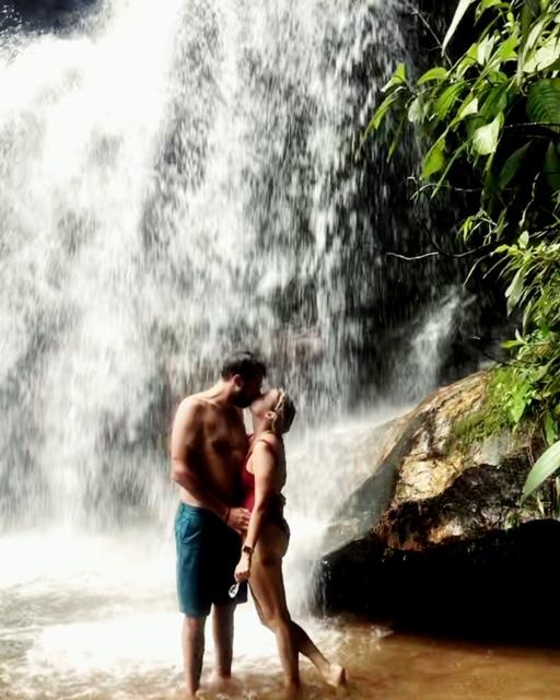 ENFJ INTP Relationship: Ellen and Brandon under a waterfall