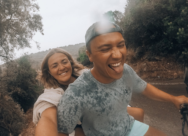 Compatibility: Lou & Charles on a quad bike
