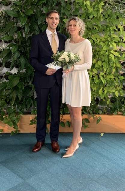 ENFJ - INFJ Relationships: Indy and Ben on their wedding day