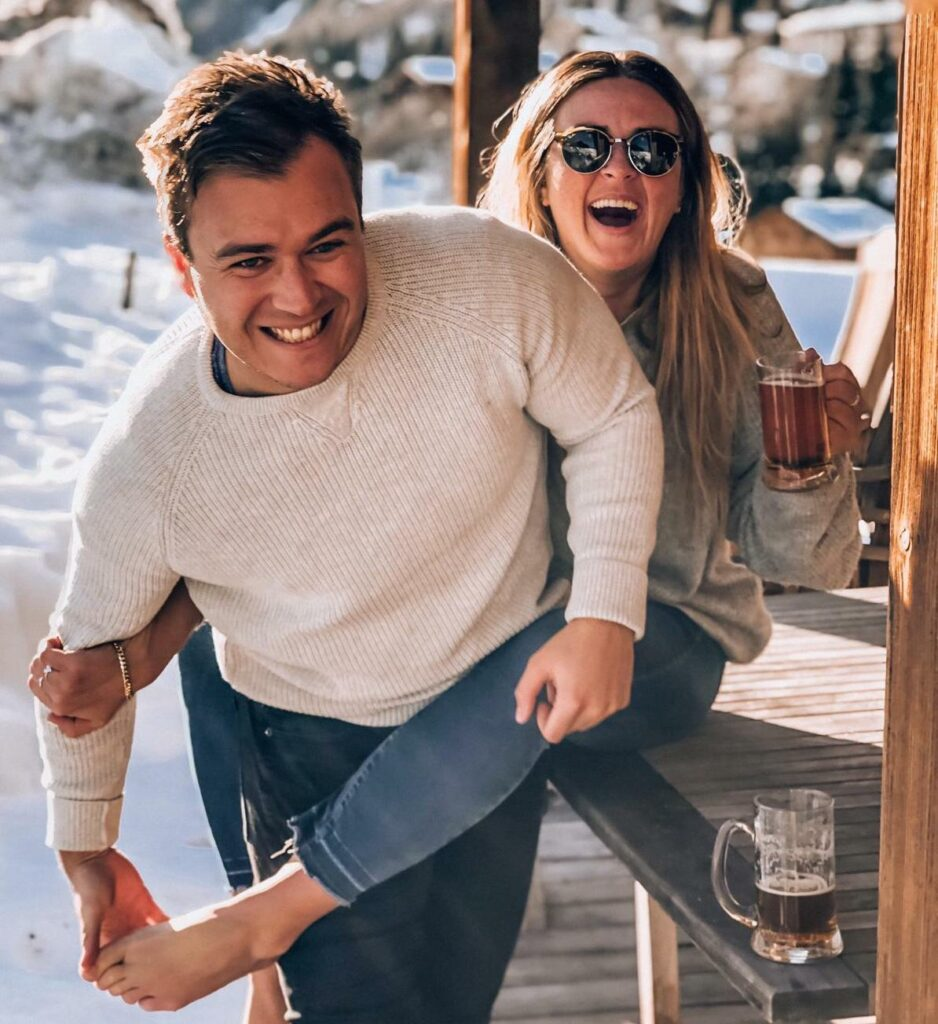 ISTP ESFJ Compatibility - Lou & Charles skiing